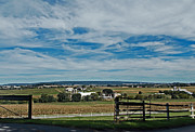 Amish Farms Photo Framed Prints - Lancaster County Framed Print by Skip Willits