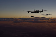 Classic Aircraft Prints - Lancaster -Mainstream Print by Pat Speirs