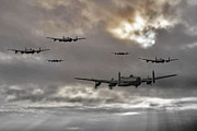 Lancaster Bomber Digital Art - Lancaster Raid by James Biggadike