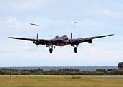 Raf Prints - Lancaster - Safe Home Print by Pat Speirs