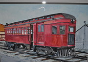 Lancaster Paintings - Lancaster Trolley Train by Bart Dunlap