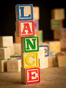 Lance Prints - LANCE - Alphabet Blocks Print by Edward Fielding