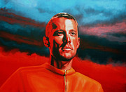 Cancer Paintings - Lance Armstrong by Paul  Meijering