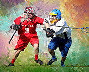 Scott Melby Metal Prints - Lancers Lacrosse Metal Print by Scott Melby