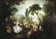 Ballet Dancers Photo Prints - Lancret, Nicolas 1690-1743. La Camargo Print by Everett