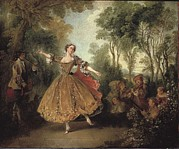 Ballet Dancers Photo Posters - Lancret, Nicolas 1690-1743. Mlle Poster by Everett