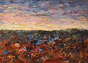 Colorful Landscape Paintings - Land and Sky 2 by James W Johnson