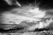 Black And White Photographs Metal Prints - Land of Fire Metal Print by David Bowman