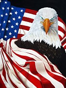 Patriotic Paintings - Land Of The Free Home Of The Brave by Nicholas Garza