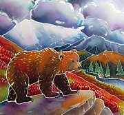 Montana Wildlife Paintings - Land of the Great Bear by Harriet Peck Taylor