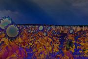 Land Of The Midnight Sunflower Print by Janice Rae Pariza
