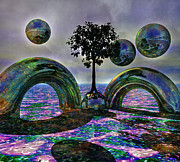 Psycodelic Digital Art - Land of World 8624030 by Betsy A Cutler East Coast Barrier Islands