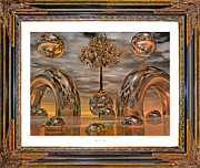Unreal Digital Art Framed Prints - Land of World 8624042 Framed Framed Print by East Coast Barrier Islands Betsy A Cutler