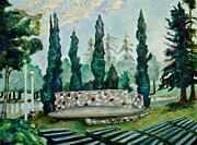 Park Benches Paintings - Land Park Amphitheater by Patrick Cosgrove