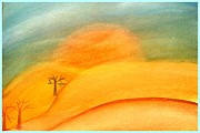 The Trees Mixed Media Originals - Land without water Art painting by Saribelle Rodriguez by Saribelle Rodriguez