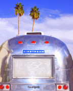 Airstream Prints - LAND YACHT Palm Springs Print by William Dey