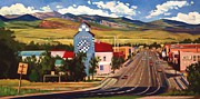 Main Street Framed Prints - Lander 2000 Framed Print by Art West