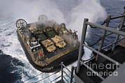 Featured Acrylic Prints - Landing Craft Air Cushion Approaches Acrylic Print by Stocktrek Images
