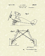 Gear Drawings Metal Prints - Landing Gear 1932 Patent Art Metal Print by Prior Art Design