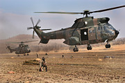 Military Aviation Art Photo Posters - Landing Zone Poster by Paul Job