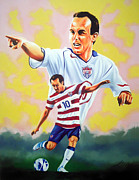 Landon Donovan Paintings - Landon Donovan by Hector Monroy by Hector Monroy