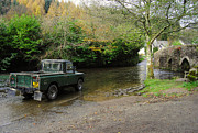 Packhorse Prints - Landrover and the Ford  Print by Rob Hawkins