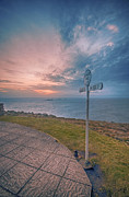 Signpost Prints - Lands End Cornwall Print by Chris Thaxter