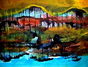 Landscape 121003-2 Print by Aquira Kusume