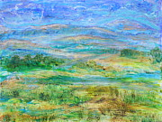 Abstract Realist Landscape Posters - Landscape After Rassuman Poster by Regina Valluzzi