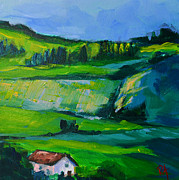 Work Of Art Originals - Landscape along the River Rhine by Patricia Awapara