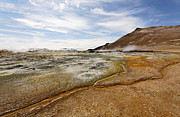 Deposit Prints - Landscape at Hverir in Iceland Print by Robert Preston