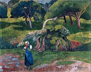 Famous Artists - Landscape at Le Pouldu by Paul Serusier