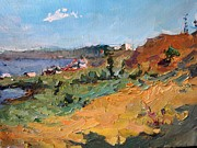 Azov Paintings - Landscape. Berdyansk by Antony Valyukonis