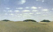 Field. Cloud Prints - Landscape from Lejre Print by Vilhelm Hammershoi
