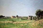 Chapel Painting Metal Prints - Landscape in Saulce Metal Print by Henri-Joseph Harpignies