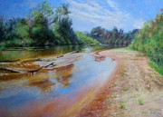 White River Pastels - Landscape by Nancy Stutes