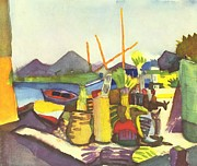 Macke; August (1887-1914) Acrylic Prints - Landscape Near Hammamet Acrylic Print by August Macke