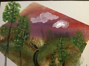 Outlook Paintings - Landscape by Oasis Tone