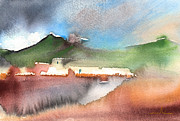 Lanzarote Paintings - Landscape of Lanzarote 04 by Miki De Goodaboom