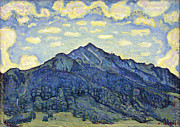 Famous Artists - Landscape of the Swiss Alps by Ferdinand Hodler