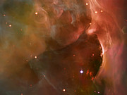 Telescope Images Prints - Landscape Orion Nebula Print by The  Vault