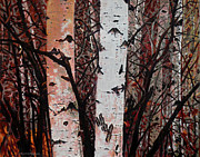 Mountain Bike Paintings - Landscape Painting - Aspen Delight - 16 x 20 Oil on Acrylic by Daniel Fishback