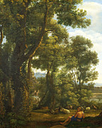 Famous Artists - Landscape with a Goatherd and Goats by Claude Lorrain