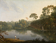 Famous Artists - Landscape with a Lake and Boats by Thomas Wright