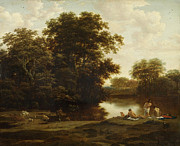 Famous Artists - Landscape with Bathers by Joris van der Haagen