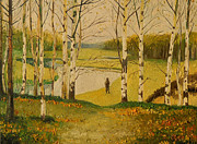 Tancau Emanuel - Landscape  With  Birch