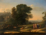 Famous Artists - Landscape with Cephalus and Procris reunited by Diana by Claude Lorrain