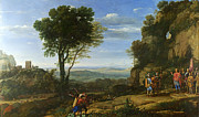 Famous Artists - Landscape with David at the Cave of Adullam by Claude Lorrain