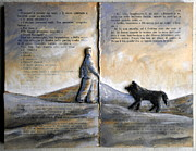 Book Reliefs - Landscape with dog by Paolo Beneforti