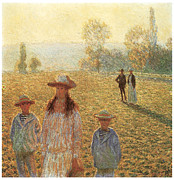 Giverny Prints - Landscape with Figures giverny Print by Claude Monet